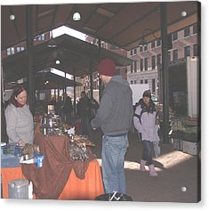 November Farmers Market Lowertown Acrylic Print by Janis Beauchamp