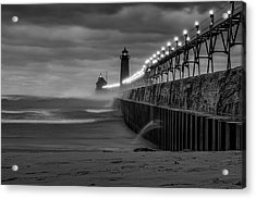 November Gales In Grand Haven Acrylic Print