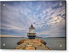 November Morn At Spring Point Ledge Light Station Acrylic Print