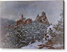 Acrylic Print featuring the photograph November Snow - Garden Of The Gods by Ellen Heaverlo