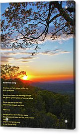 Acrylic Print featuring the photograph November Song by Mitch Cat