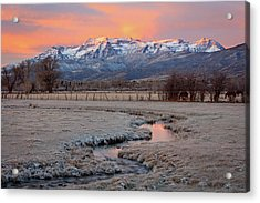 November Sunrise In The North Fields. Acrylic Print