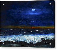 November Sunset At The Beach Acrylic Print