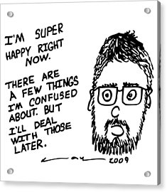 Now Comic Acrylic Print by Karl Addison