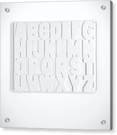 Now I Know My Abcs Acrylic Print by Scott Norris