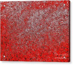 Now It's Red Acrylic Print by Rachel Hannah