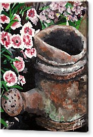 Acrylic Print featuring the painting Now Its Yard Art by Jim Phillips