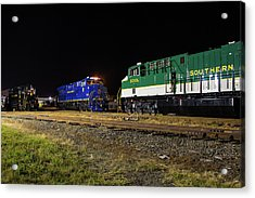 Ns Heritage Locomotives Family Photographs 8103 Night 12 Acrylic Print