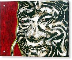 Nuba Paint Acrylic Print by Chester Elmore