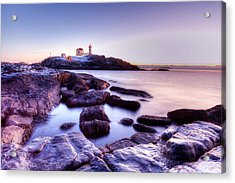 Acrylic Print featuring the photograph Nubble In The Morning by Chris Babcock