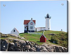 Nubble Light Acrylic Print by Armand Hebert