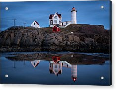 Nubble Light - Holiday Lights During Blue Hour Acrylic Print