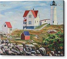 Nubble Light House Maine Acrylic Print by Richard Nowak