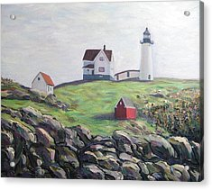 Nubble Light House Acrylic Print by Richard Nowak