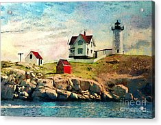 Nubble Light - Painted Acrylic Print