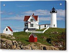 Nubble Lighthouse - D002365 Acrylic Print by Daniel Dempster
