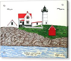 Nubble Lighthouse At Cape Neddick Acrylic Print