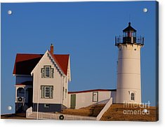Nubble Lighthouse Acrylic Print by David Bishop