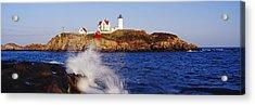 Nubble Lighthouse In Daylight Acrylic Print by Jeremy Woodhouse