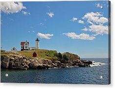 Nubble Lighthouse Acrylic Print by Luisa Azzolini
