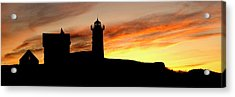 Nubble Lighthouse Silhouette Acrylic Print