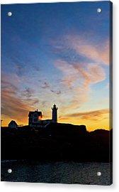 Nubble Lighthouse Sunrise 3 Acrylic Print