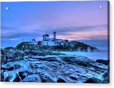 Nubble Lighthouse Sunrise - York, Maine Acrylic Print