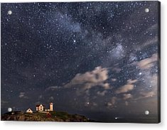 Nubble Lighthouse Under The Milky Way Acrylic Print