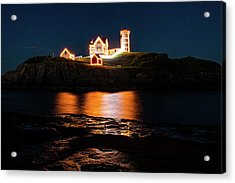 Acrylic Print featuring the photograph nubble Lighthouse, York Maine by Jeff Folger