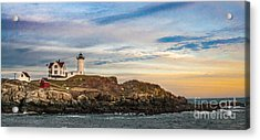 Nubble Lighthouse, York, Maine Acrylic Print by Ken Marsh