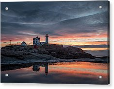 Nubble Sunrise Reflection Acrylic Print