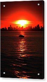 Nuclear Miami Sunset Acrylic Print