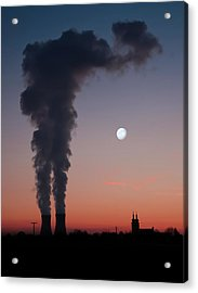 Nuclear Power Station In Bavaria Acrylic Print by Michael Kohaupt