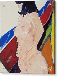 Acrylic Print featuring the painting Nude - Prim  by Diane Ursin