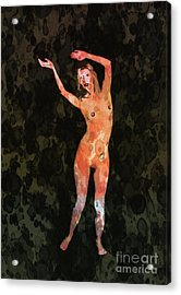 Nude 1 Pop Art By Mary Bassett Acrylic Print