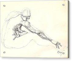 Nude 10 Acrylic Print by R  Allen Swezey