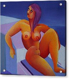 Nude 5 Acrylic Print by Karin Eisermann