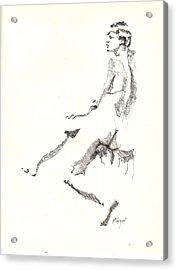 Nude 7 Acrylic Print by R  Allen Swezey
