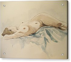 Nude 9 Acrylic Print by Victoria Heryet