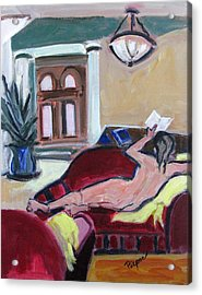 Nude And Foyer Acrylic Print by Betty Pieper