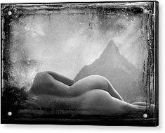 Nude At Chinaman's Hat, Pali, Hawaii Acrylic Print