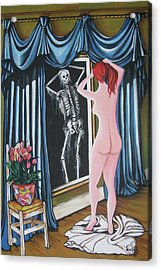 Nude Beauty On The Mirrow Acrylic Print