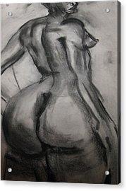 Nude Buttocks Acrylic Print