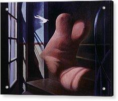 Nude Descending Staircase Acrylic Print by James LeGros
