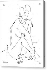 Nude-female-drawing-19 Acrylic Print by Gordon Punt
