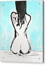 Nude Female Acrylic Print by Julie Lueders