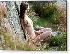 Nude Girl In The Nature Acrylic Print