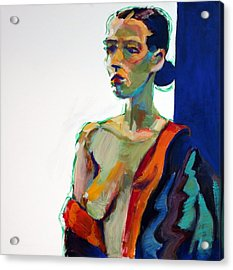 Nude-j Acrylic Print by Piotr Antonow