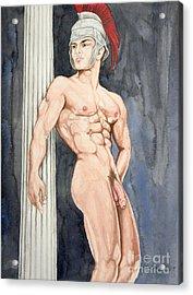Nude Male Spartan Acrylic Print by The Artist Dana