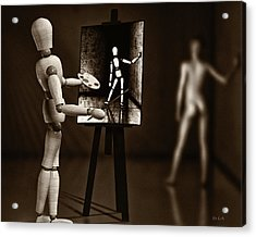 Nude Model  Acrylic Print by Bob Orsillo